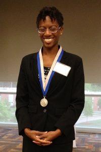 Graduate student April Maxwell
