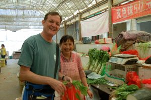 David Weaver in a Chinese market